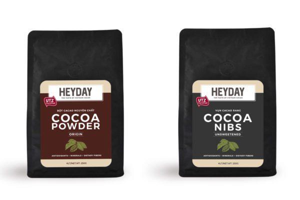 Bột ca cao nguyên chất Heyday - Thương hiệu cacao Việt Nam